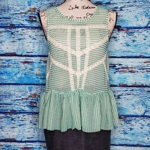 Free People Turquoise Knit Sleeveless Top